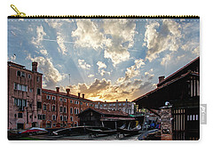 Sunset Over The Gondola Shop In Venice Carry-all Pouch