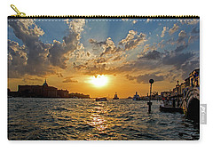 Sunset Over The Grand Canal In Venice Carry-all Pouch