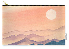Sunset Over The Hills Carry-all Pouch