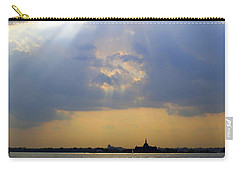 Sunset Over The Hudson 3 Carry-all Pouch by Randall Weidner