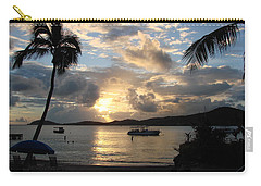 Sunset Over The Inifinity Pool At Frenchman's Cove In St. Thomas Carry-all Pouch