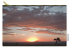 Sunset Over The Mara Carry-all Pouch