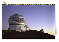 Carry-all Pouch featuring the photograph Sunset Over The Mauna Kea Observatories On Kona by Amy McDaniel