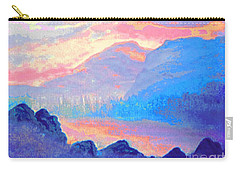 Sunset Over The Mountains Carry-all Pouch