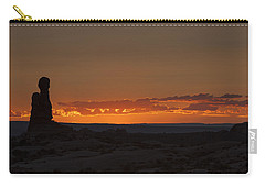 Sunset Over The Petrified Dunes Carry-all Pouch