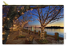 Sunset Over The Wilmington Waterfront In North Carolina, Usa Carry-all Pouch