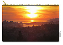 Sunset Over Vancouver Carry-all Pouch