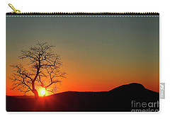 Carry-all Pouch featuring the photograph Sunset Over Virginia by Darren Fisher