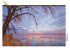 Carry-all Pouch featuring the photograph Sunset Overhang by Darren White