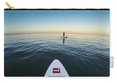 Carry-all Pouch featuring the photograph Sunset Paddle Boarding by Will Gudgeon