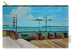 Sunset Pier Tiki Bar - Key West Florida Carry-all Pouch by Lloyd Dobson