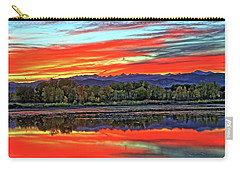 Carry-all Pouch featuring the photograph Sunset Ponds by Scott Mahon