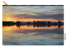 Carry-all Pouch featuring the photograph Sunset Reflections by AJ Schibig