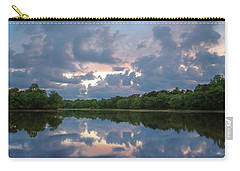 Carry-all Pouch featuring the photograph Sunset Reflections by Lori Coleman