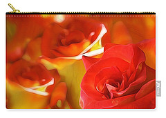 Carry-all Pouch featuring the photograph Sunset Rose by Gabriella Weninger - David