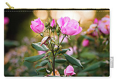 Carry-all Pouch featuring the photograph Sunset Roses by Parker Cunningham