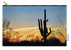 Sunset Saguaro In The Spring Carry-all Pouch