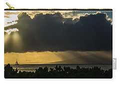 Carry-all Pouch featuring the photograph Sunset Sail by Colleen Coccia