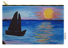 Sunset Sail Dark Carry-all Pouch