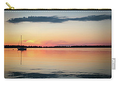 Sunset Sail On Calm Waters Carry-all Pouch