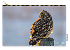 Sunset Short-eared Owl Carry-all Pouch