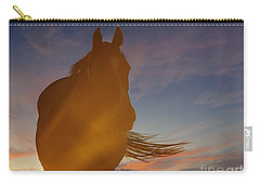 Carry-all Pouch featuring the photograph Sunset Silhouette by Carol Lynn Coronios
