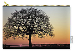 Carry-all Pouch featuring the photograph Sunset Silhouette by Clare Bambers