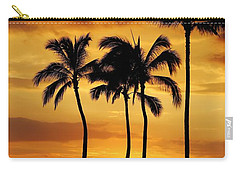 Sunset Silhouette Carry-all Pouch by Craig Wood