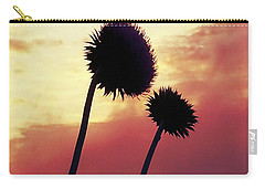 Carry-all Pouch featuring the photograph Sunset Silhouettes by Maria Urso