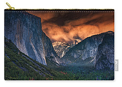 Sunset Skies Over Yosemite Valley Carry-all Pouch by Rick Berk