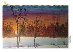 Sunset Snow Carry-all Pouch