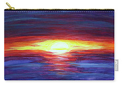 Carry-all Pouch featuring the painting Sunset by Sonya Nancy Capling-Bacle