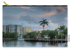 sunset South Florida canal Carry-all Pouch