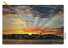 Sunset Sunrays Over Huntington Harbour Carry-all Pouch