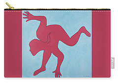 Carry-all Pouch featuring the painting Sunset Surfer by Ben Gertsberg