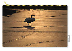 Carry-all Pouch featuring the photograph Sunset Swan by Richard Bryce and Family
