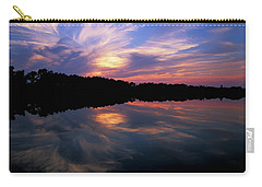 Carry-all Pouch featuring the photograph Sunset Swirl by Steve Stuller