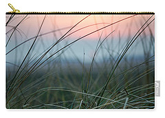 Sunset  Through The Marsh Grass Carry-all Pouch by Spikey Mouse Photography