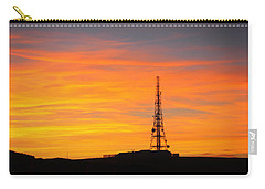 Carry-all Pouch featuring the photograph Sunset Tower by RKAB Works