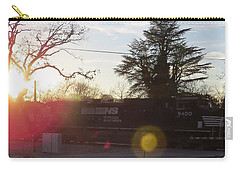 Carry-all Pouch featuring the photograph Sunset Train by Aaron Martens