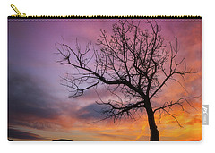 Carry-all Pouch featuring the photograph Sunset Tree by Darren White