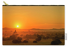 Sunset View Of Bagan Pagoda Carry-all Pouch