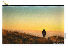 Carry-all Pouch featuring the painting Sunset Walk by Chris Armytage