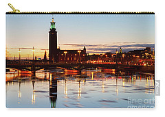 Sunset With Cityhall Of Stockholm Carry-all Pouch