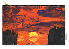 Sunset Without Swan Carry-all Pouch