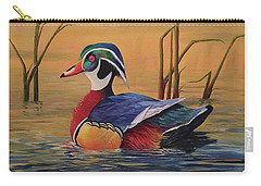 Sunset Wood Duck Carry-all Pouch