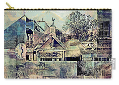 Carry-all Pouch featuring the digital art Sunsets And Blue Point Collage by Susan Stone