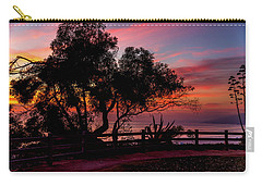 Sunset Silhouettes From Palisades Park Carry-all Pouch