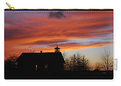 Sunsetting Behind The Historic Schoolhouse. Carry-all Pouch