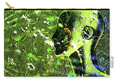 Carry-all Pouch featuring the photograph Sunshine And Daisies by LemonArt Photography